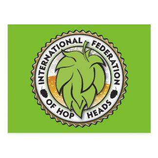 International Federation of Hop Heads Postcard