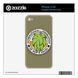 International Federation of Hop Heads Skin For iPhone 4