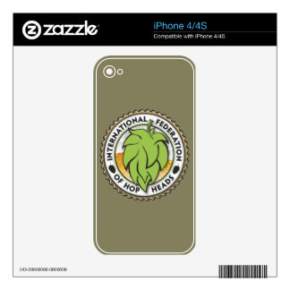 International Federation of Hop Heads Skins For iPhone 4S