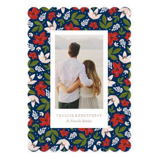 International Feestelijke Vakantie Bloemen Card