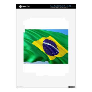 International Flag Brazil Skin For iPad 3