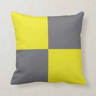 International Flag Code pillow- Letter L (Lima) Throw Pillow