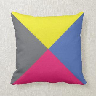 International Flag Code pillow- Letter Z (Zulu) Throw Pillow