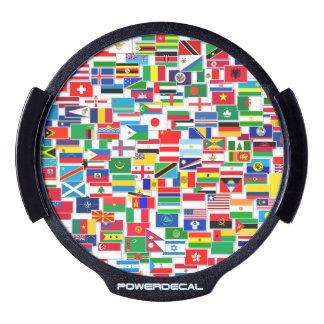 INTERNATIONAL FLAG PATTERN LED WINDOW DECAL