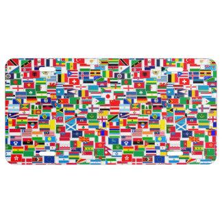 INTERNATIONAL FLAG PATTERN LICENSE PLATE