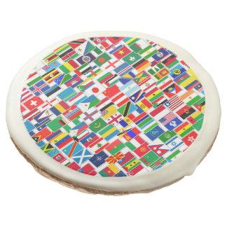 INTERNATIONAL FLAG PATTERN SUGAR COOKIE