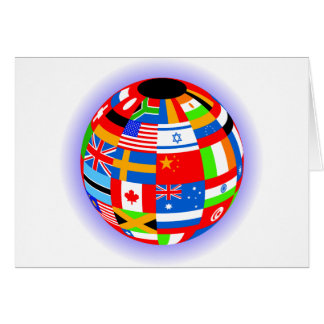 international flags globe earth cards