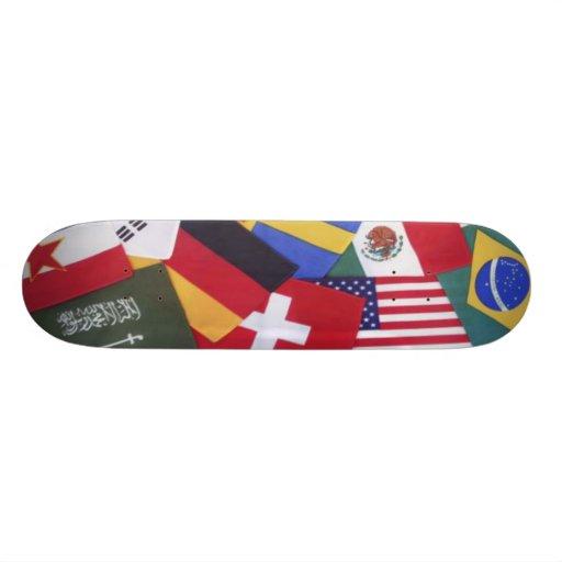 International Flags Skateboard
