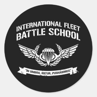 International Fleet Battle School Ender Classic Round Sticker