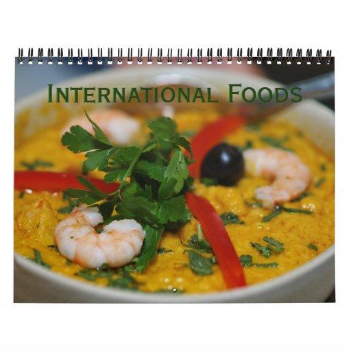 International Foods Wall Calendars