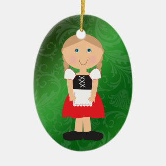 International - German Girl - SRF Ceramic Ornament