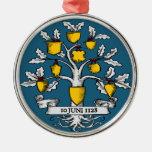 International Heraldry Day Round Metal Christmas Ornament