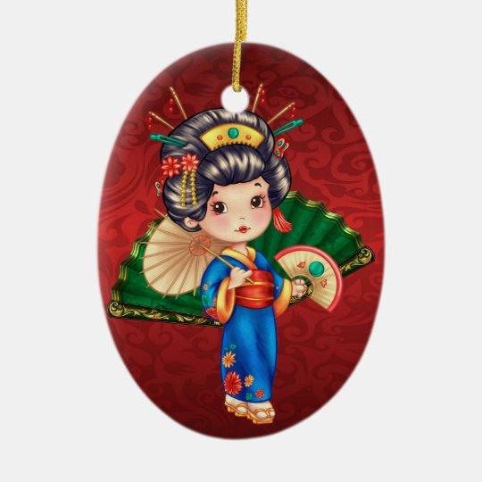 International - Japanese Girl - SRF Ceramic Ornament