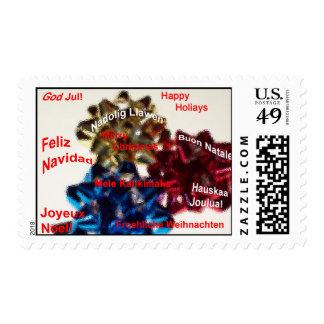 International  Language Merry Christmas Stamp