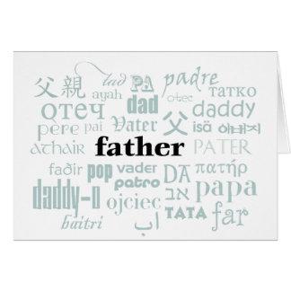 International Language of Dad Card