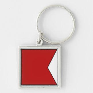 International maritime signal flag letter nautical key chains