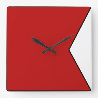 International maritime signal flag letter nautical square wall clock