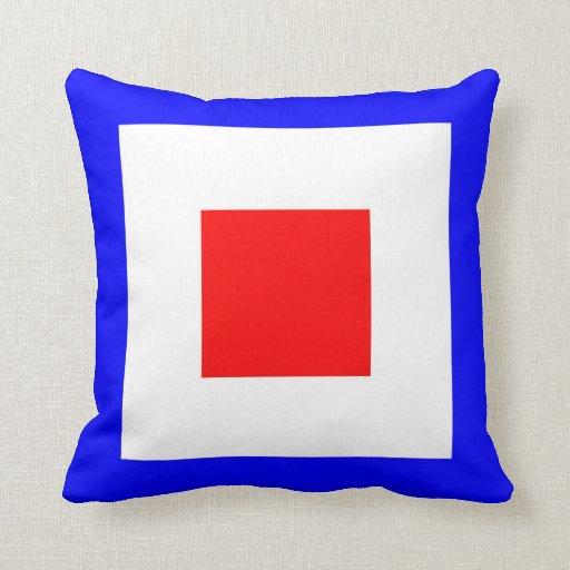International maritime signal flag letter nautical throw pillow Zazzle