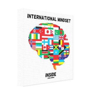 International Mindset Inside Intl Flags Brain Canvas Print