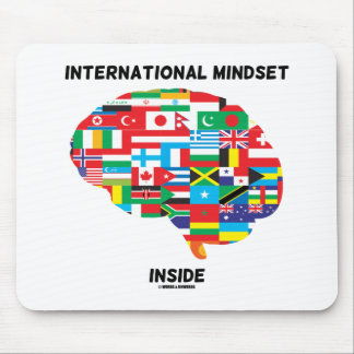 International Mindset Inside Intl Flags Brain Mouse Pad
