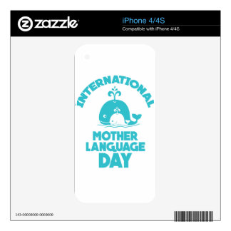 International Mother Language Day - 21st February Decals For The iPhone 4