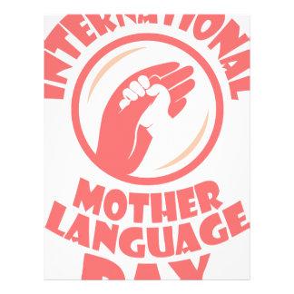 International Mother Language Day - 21st February Letterhead