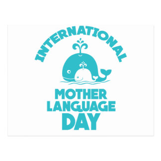 International Mother Language Day - 21st February Postcard
