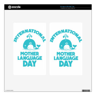 International Mother Language Day - 21st February Skins For Kindle Fire