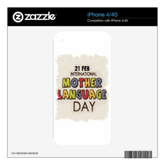 International Mother Language Day-Appreciation Day Decal For iPhone 4S