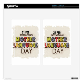 International Mother Language Day-Appreciation Day Kindle Fire Skins