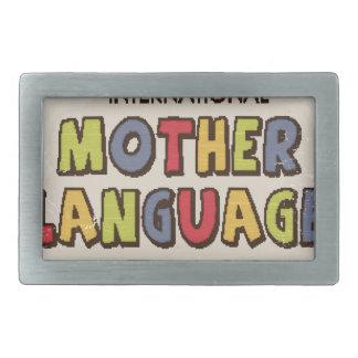 International Mother Language Day-Appreciation Day Rectangular Belt Buckle