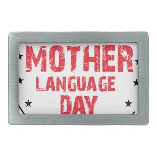 International Mother Language Day Belt Buckle