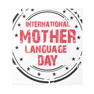 International Mother Language Day Notepad
