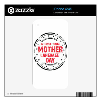 International Mother Language Day Skin For iPhone 4S