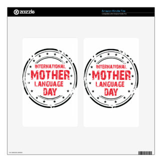 International Mother Language Day Skins For Kindle Fire