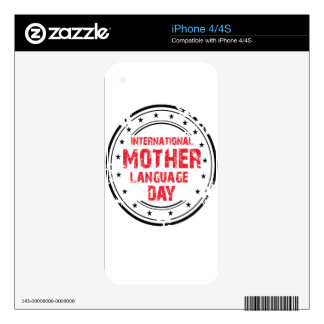 International Mother Language Day Skins For The iPhone 4S