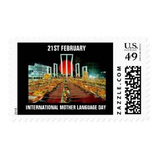 INTERNATIONAL MOTHER LANGUAGE DAY US POSTAGE STAMP