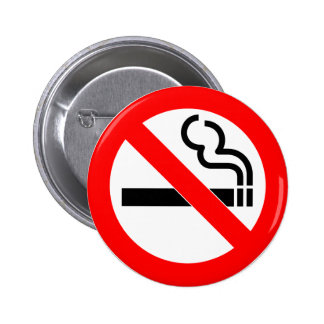 International official symbol no smoking sign 2 inch round button