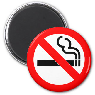 International official symbol no smoking sign 2 inch round magnet
