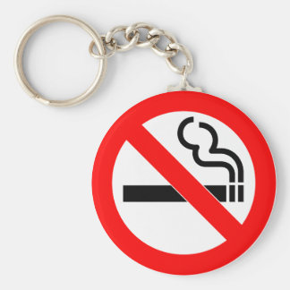 International official symbol no smoking sign keychain
