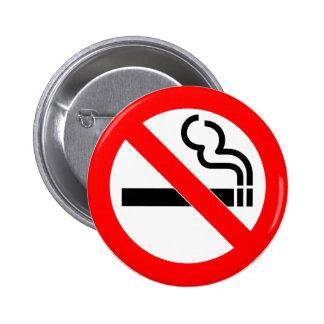 International official symbol no smoking sign pinback button