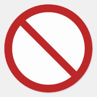International oficial ninguna ISO 3864-1 del Pegatina Redonda