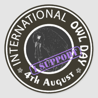International Owl Day-4th August-Endangered Specie Classic Round Sticker