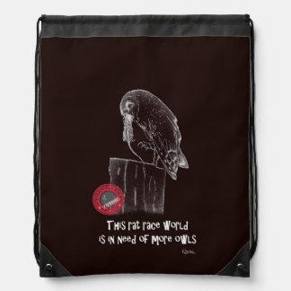 International Owl Day-4th August-Endangered Specie Drawstring Bag