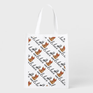International Owl Day-4th August-Endangered Specie Grocery Bag