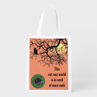International Owl Day-4th August-Endangered Specie Grocery Bags