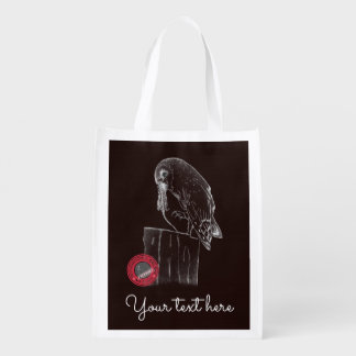 International Owl Day-4th August-Endangered Specie Reusable Grocery Bag