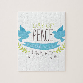 International Peace Day Label Designs In Pastel Co Jigsaw Puzzle