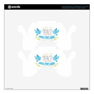 International Peace Day Label Designs In Pastel Co PS3 Controller Skin