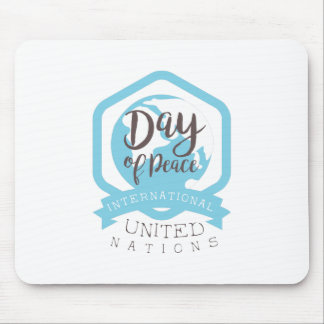International Peace Day Label Designs Mouse Pad